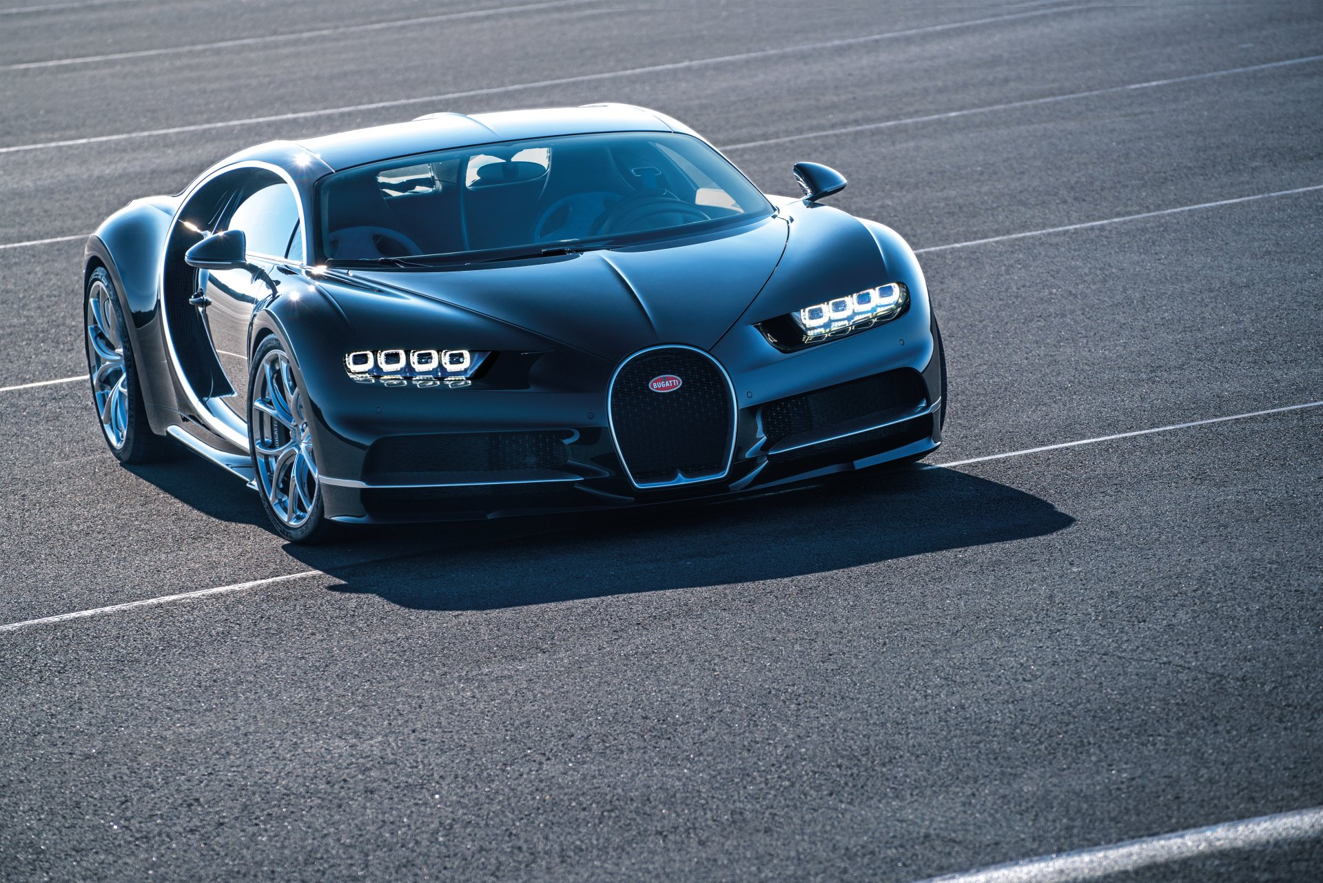Vehicles - Bugatti Chiron  Bugatti Black Car Car Vehicle Sport Car Supercar Wallpaper