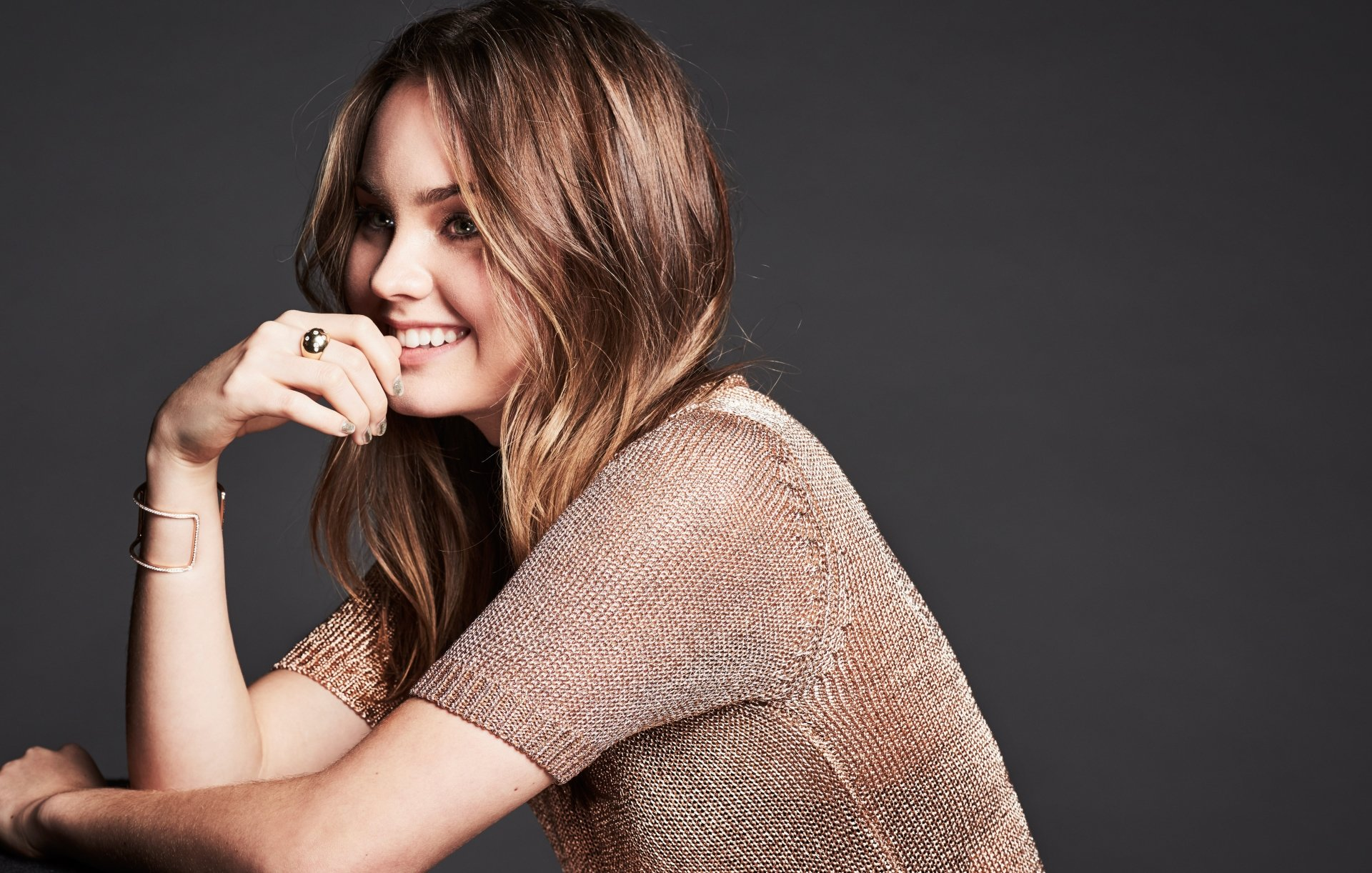 Women - Liana Liberato  Actress American Brunette Green Eyes Smile Wallpaper