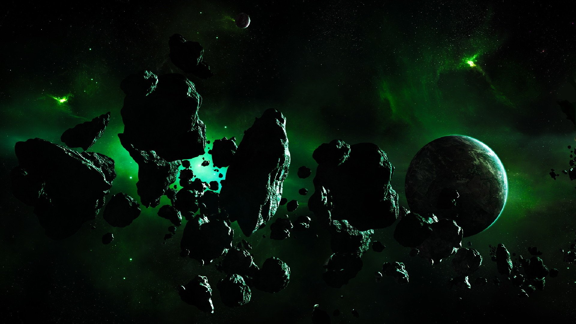 Sci Fi - Planet  Sci Fi Asteroid Stars Space Wallpaper
