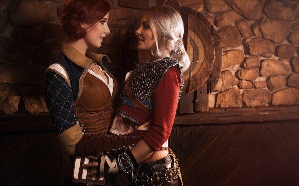 Women Cosplay The Witcher Ciri Triss Merigold HD Wallpaper | Background Image