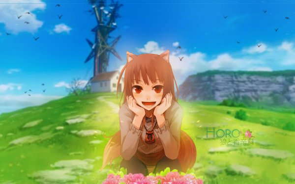 Anime Spice and Wolf Holo HD Wallpaper   Background Image