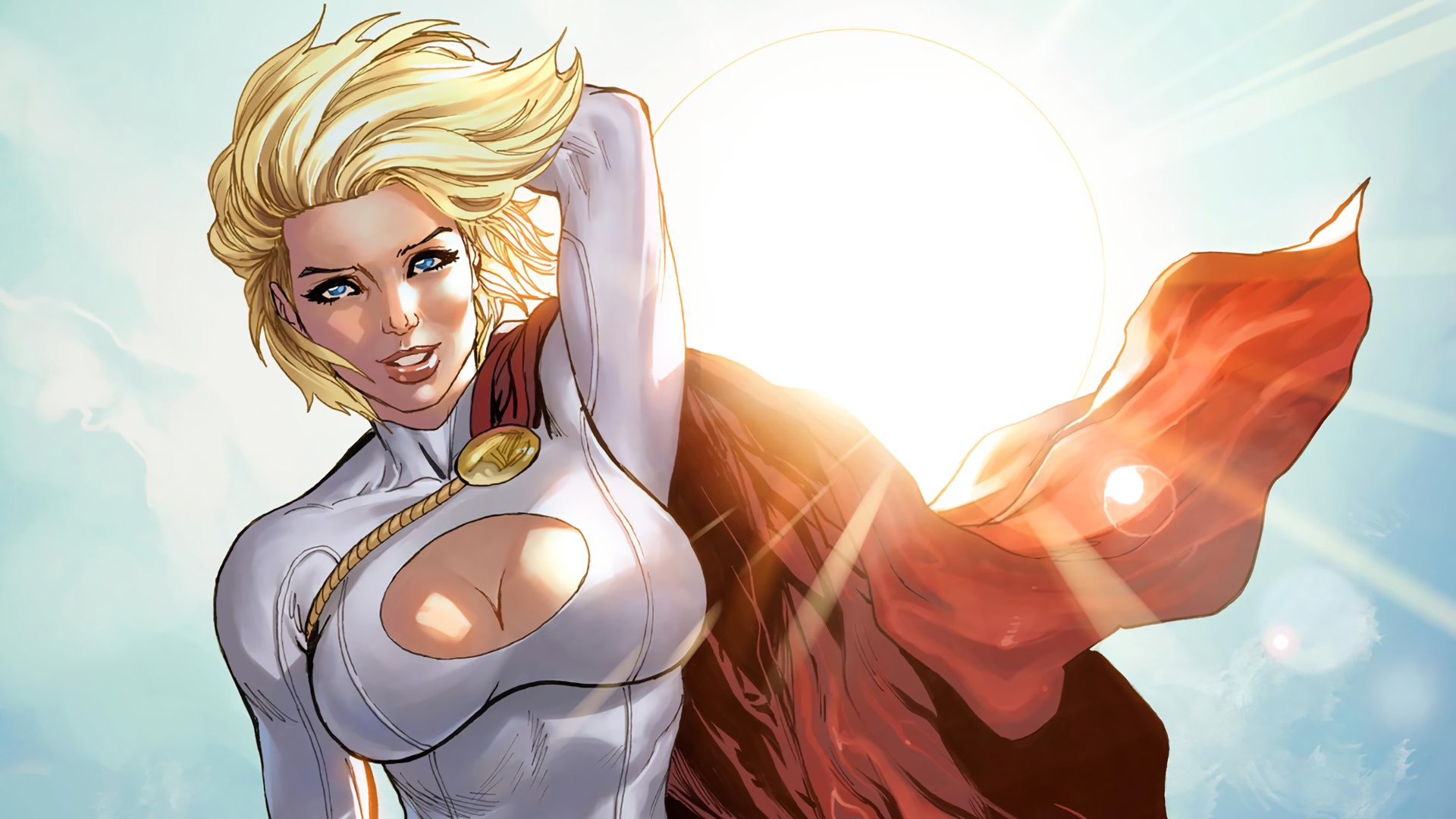 power girl full hd wallpaper and background image | 1920x1080 | id