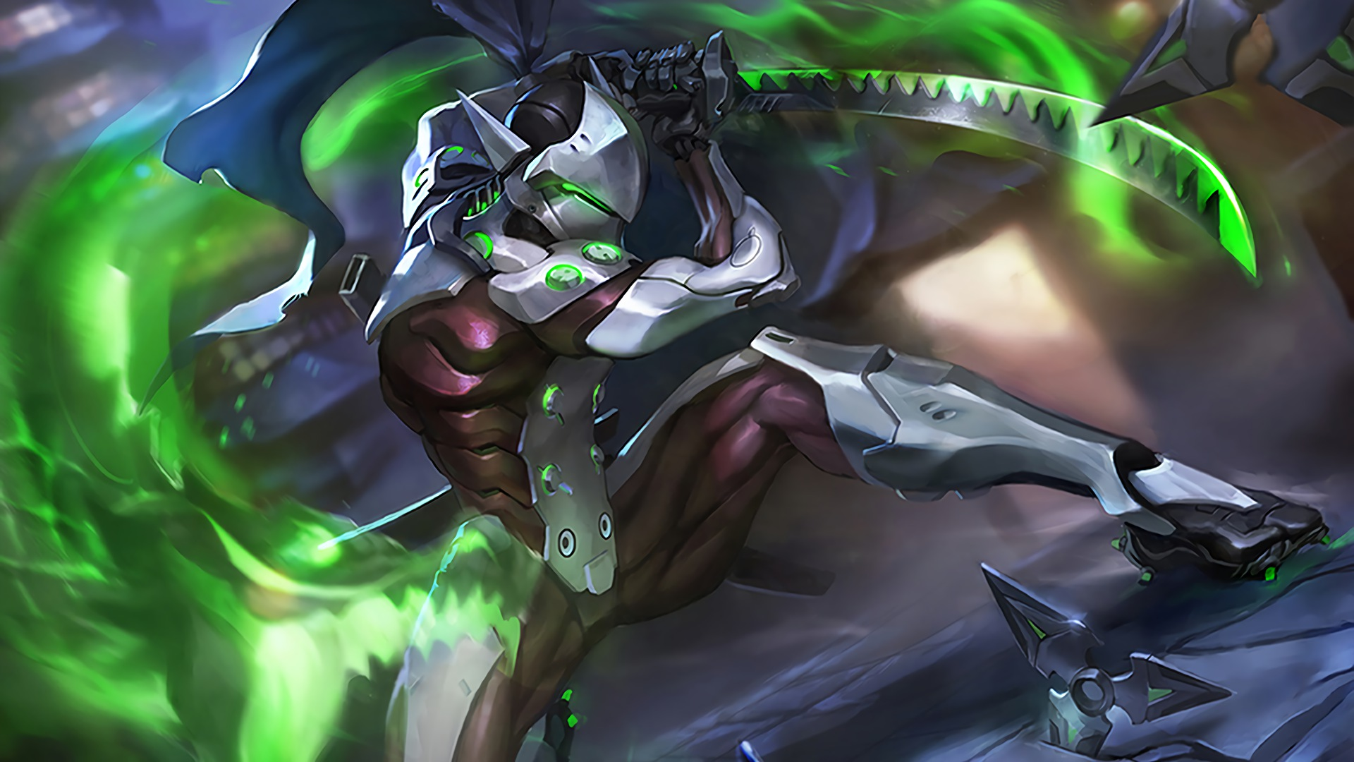 Image Result For Genji Animated Wallpaper Overwatch