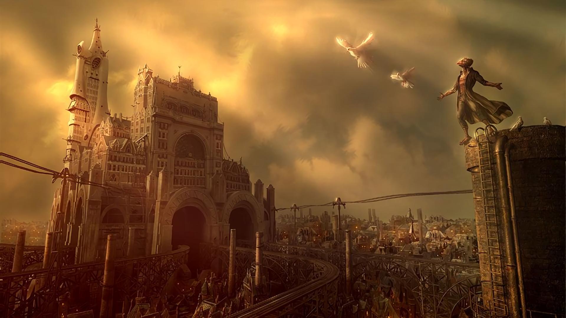 Fantasy - City  Steampunk Wallpaper