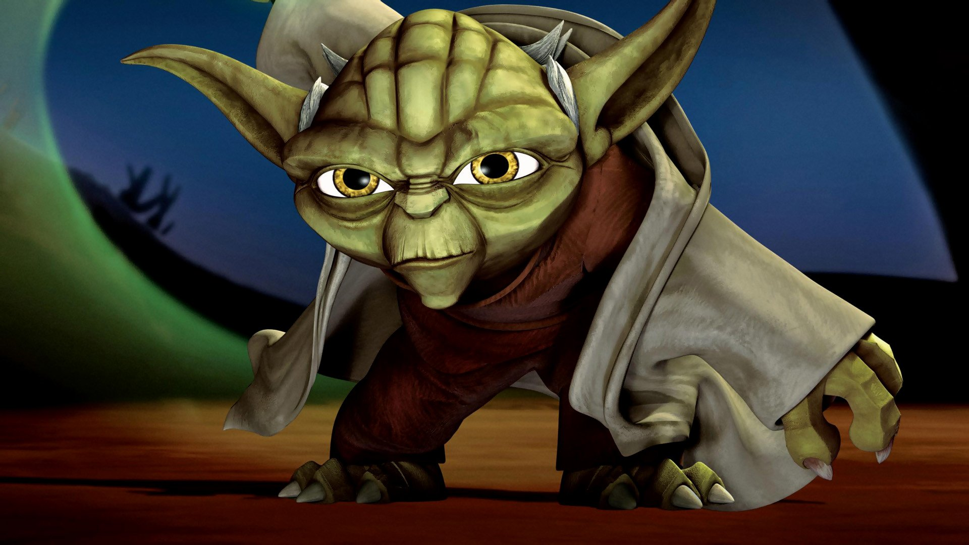 Movie - Star Wars: The Clone Wars  Yoda Wallpaper