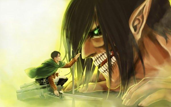 Anime Attack On Titan Shingeki No Kyojin Levi Ackerman Eren Yeager HD Wallpaper   Background Image