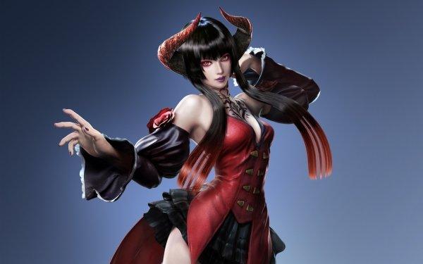 Video Game Tekken 7 Tekken Fantasy Woman Girl Demon Horns Black Hair Long Hair Eliza HD Wallpaper | Background Image