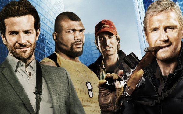 Film The A-Team Quinton Jackson Liam Neeson Bradley Cooper Sharlto Copley Fond d'écran HD | Image