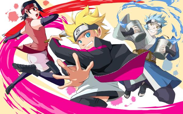 Anime Boruto Naruto Boruto Uzumaki Mitsuki Sarada Uchiha HD Wallpaper   Background Image