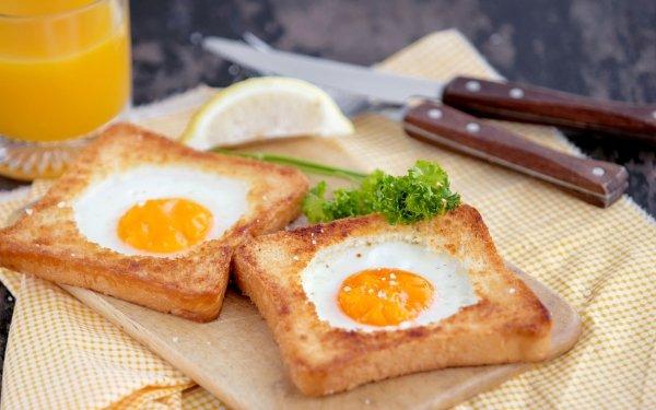 Alimento Huevo Toast Bodegón Fondo de pantalla HD | Fondo de Escritorio