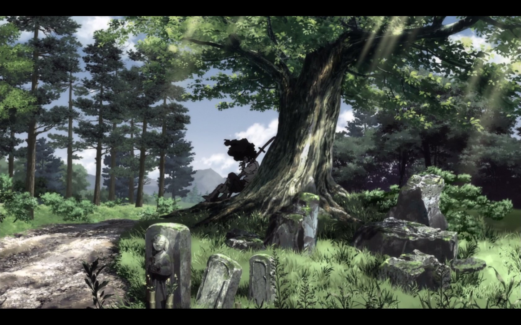 Afro samurai wallpaper and background image 1680x1050 - Anime forest background ...