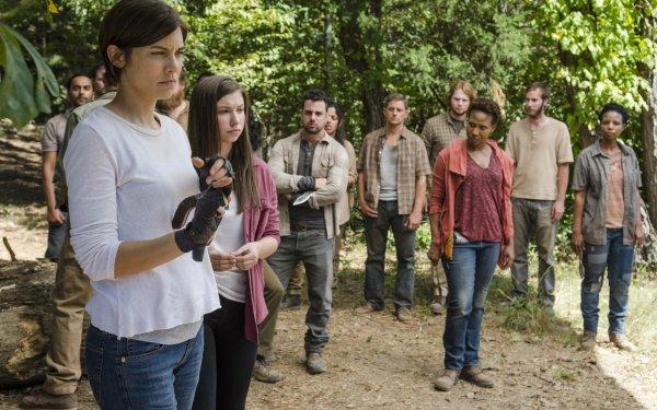 TV Show The Walking Dead Maggie Greene Lauren Cohan Enid Katelyn Nacon HD Wallpaper | Background Image