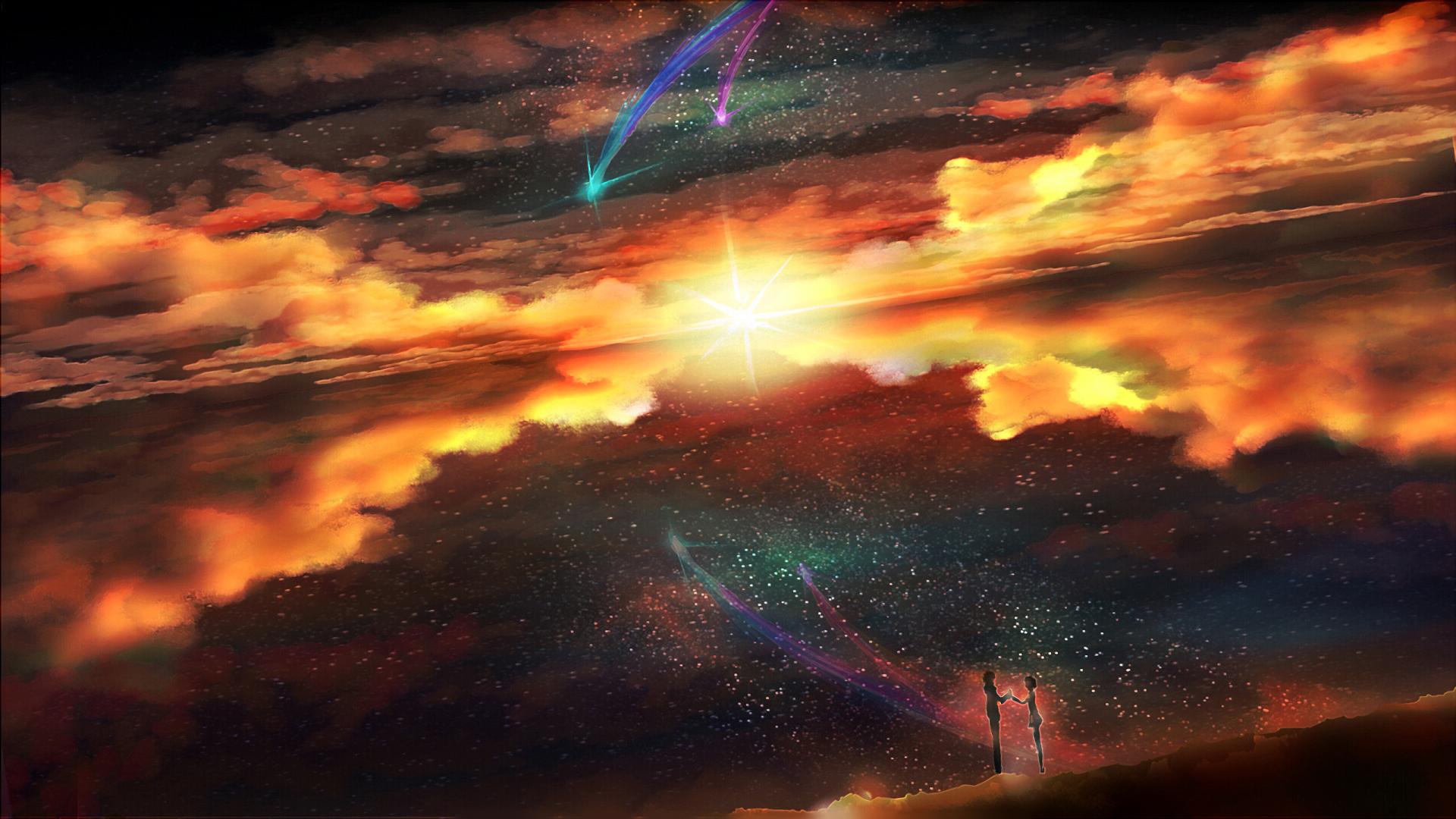 Anime - Your Name.  Mitsuha Miyamizu Taki Tachibana Kimi No Na Wa. Wallpaper