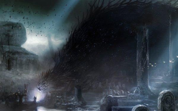 Fantaisie Magicien Sombre Fond d'écran HD | Arrière-Plan