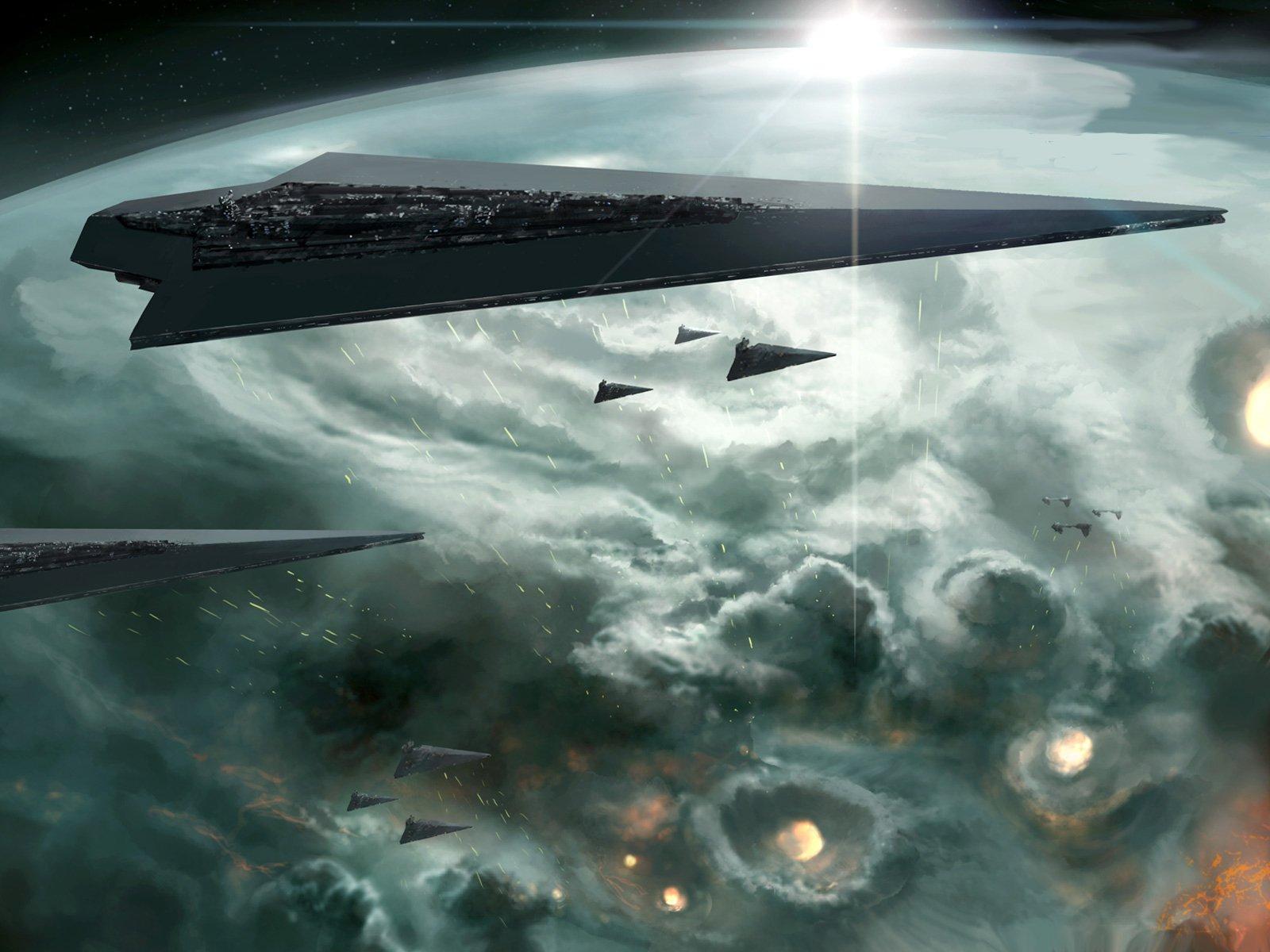 Movie - Star Wars  Space Fleet Star Destroyer Wallpaper