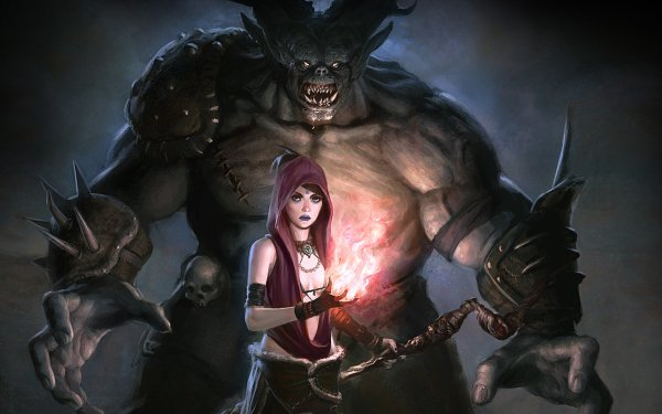 Jeux Vidéo Dragon Age: Origins Dragon Age Fantaisie Sorcière Démon Magicienne Fond d'écran HD | Image