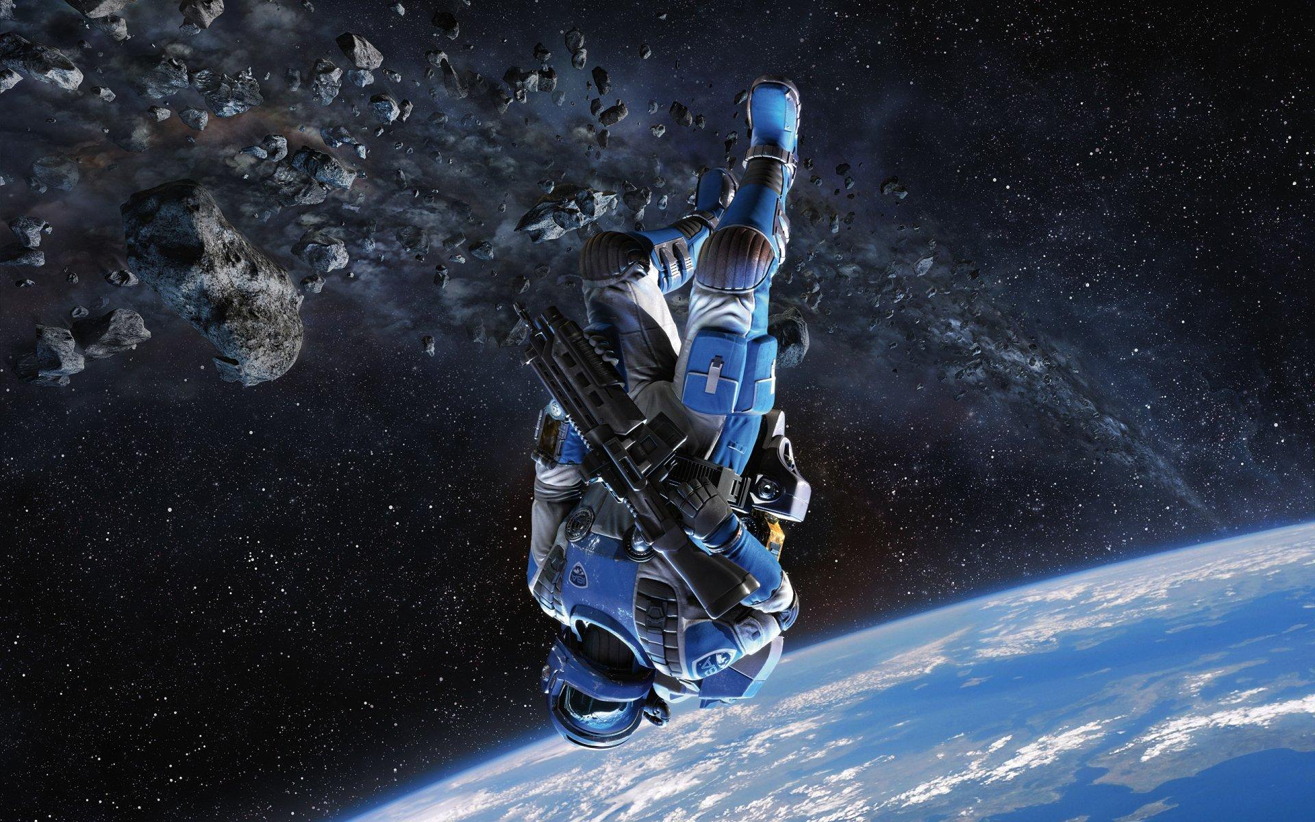 Sci Fi - Warrior  Stars Space Soldier Wallpaper