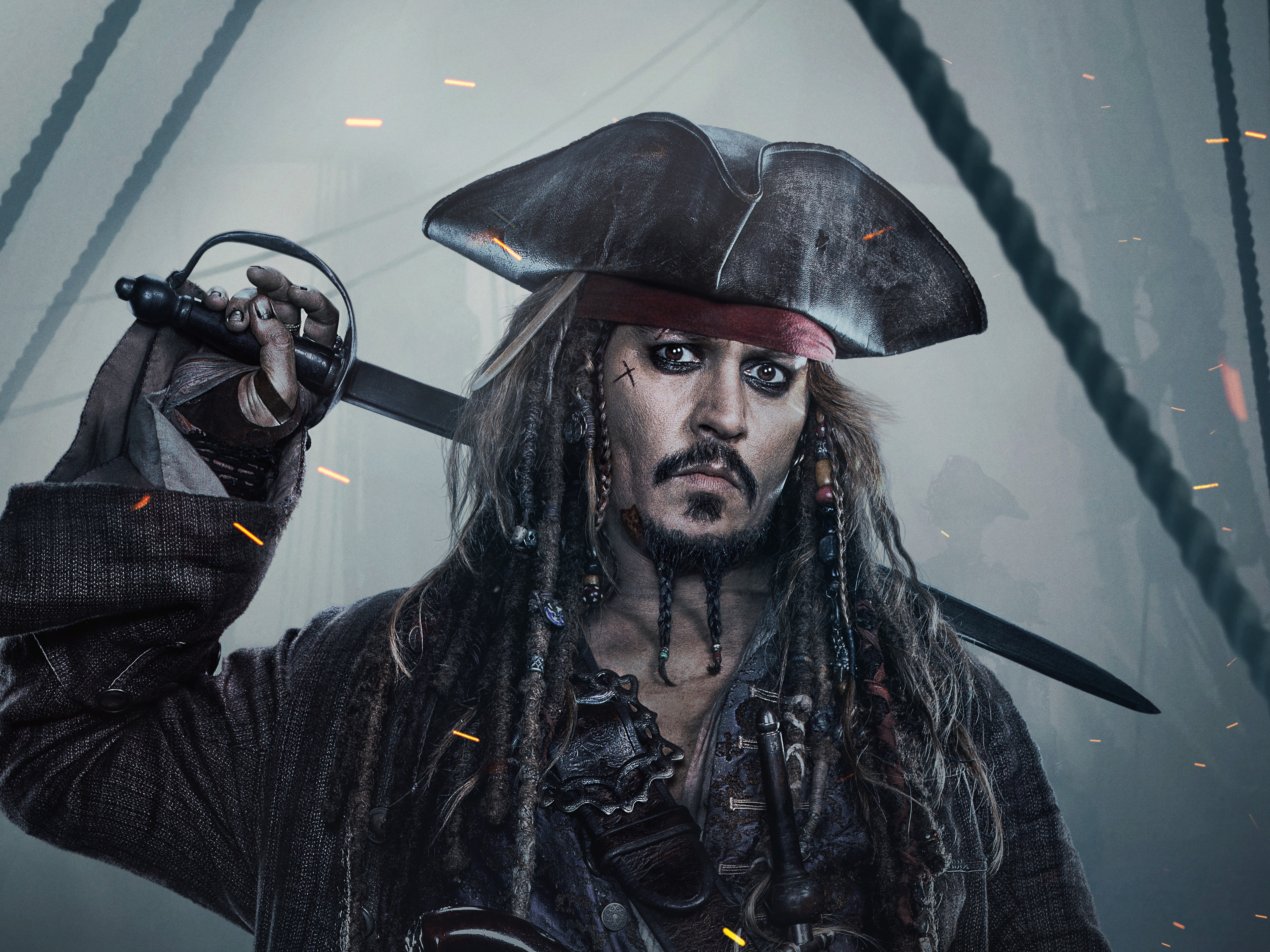 Jack sparrow 4k Ultra HD Wallpaper