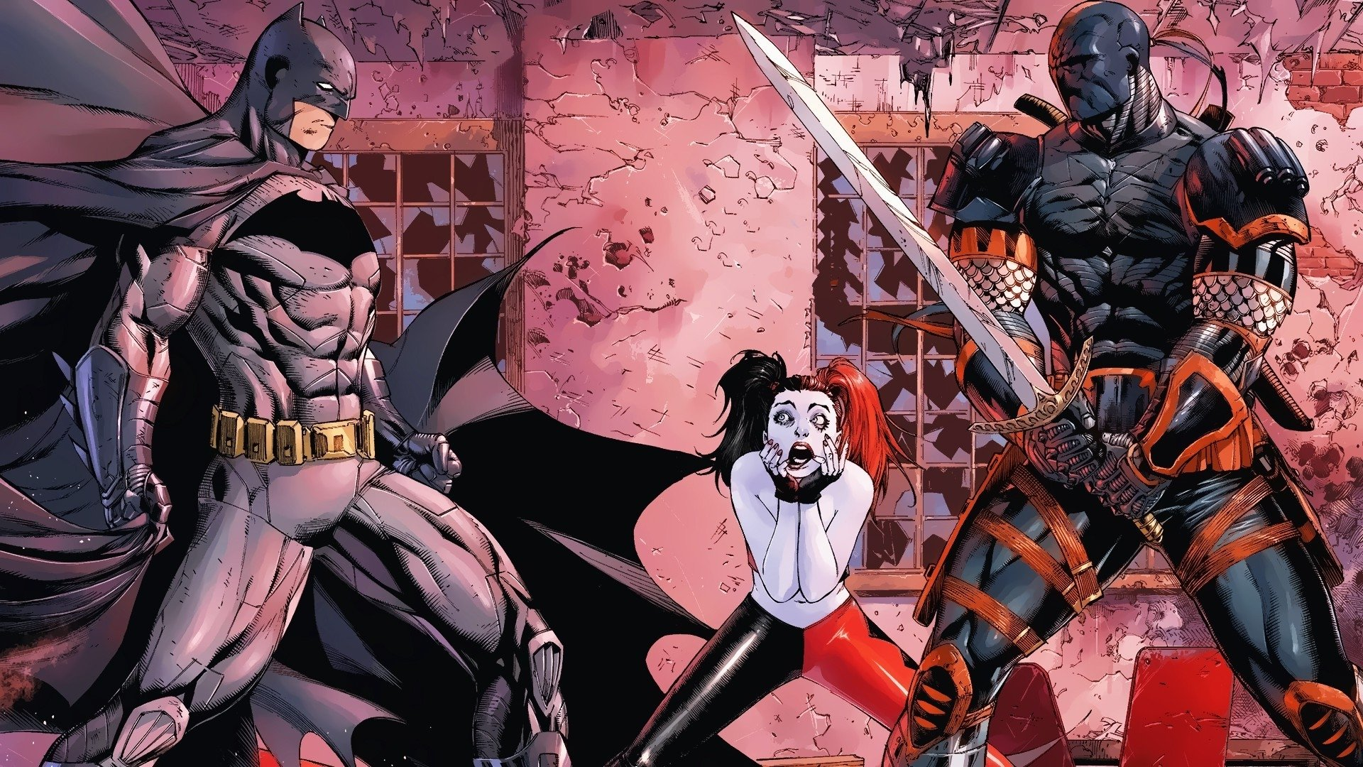 Comics - Batman  Deathstroke Harley Quinn DC Comics Wallpaper