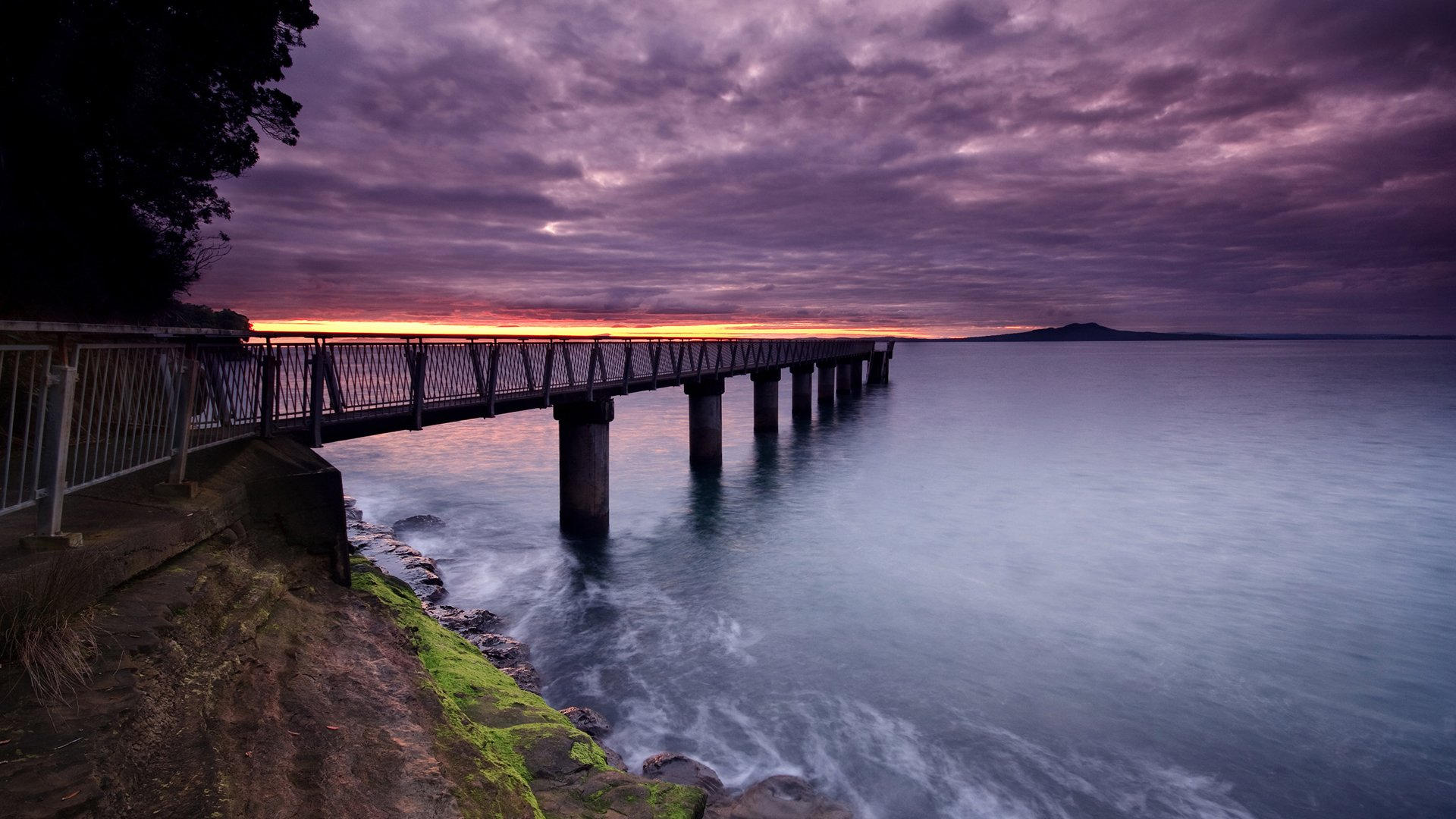 Man Made - Pier  Water Dock Sky Sunset Earth Ocean Wallpaper