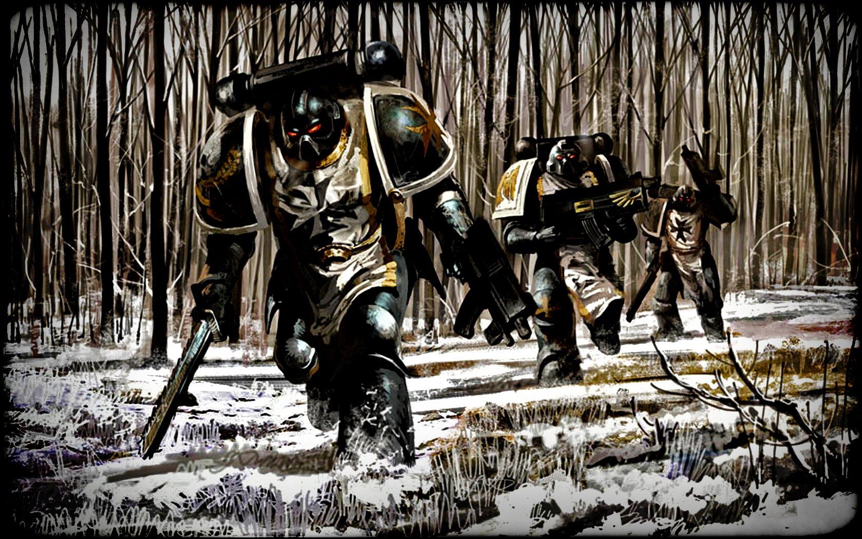 Sci Fi - Warrior  Snow Soldier Forest Warhammer Sci Fi Wallpaper