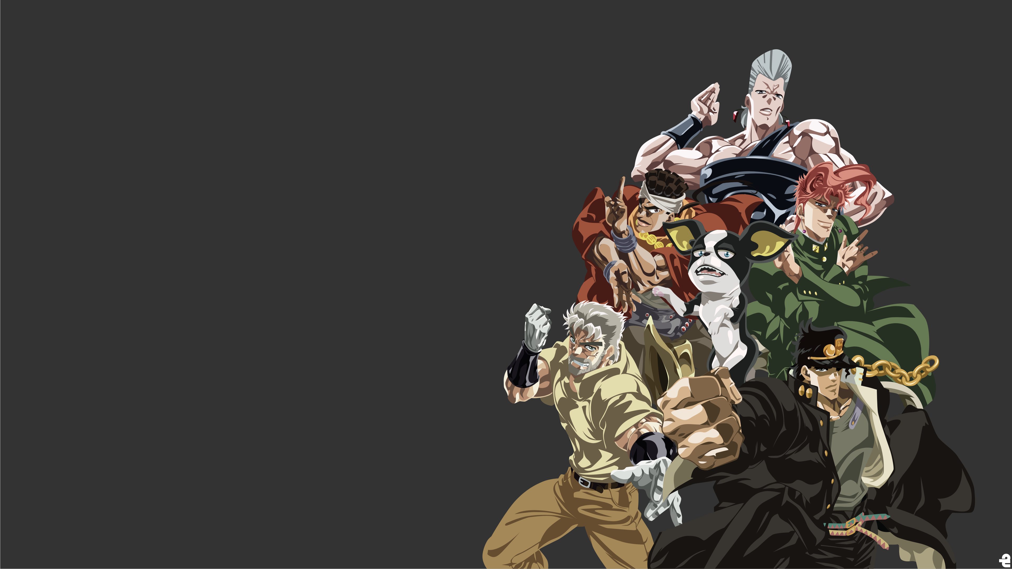 jojo s bizarre adventure stardust crusaders 4k ultra hd wallpaper