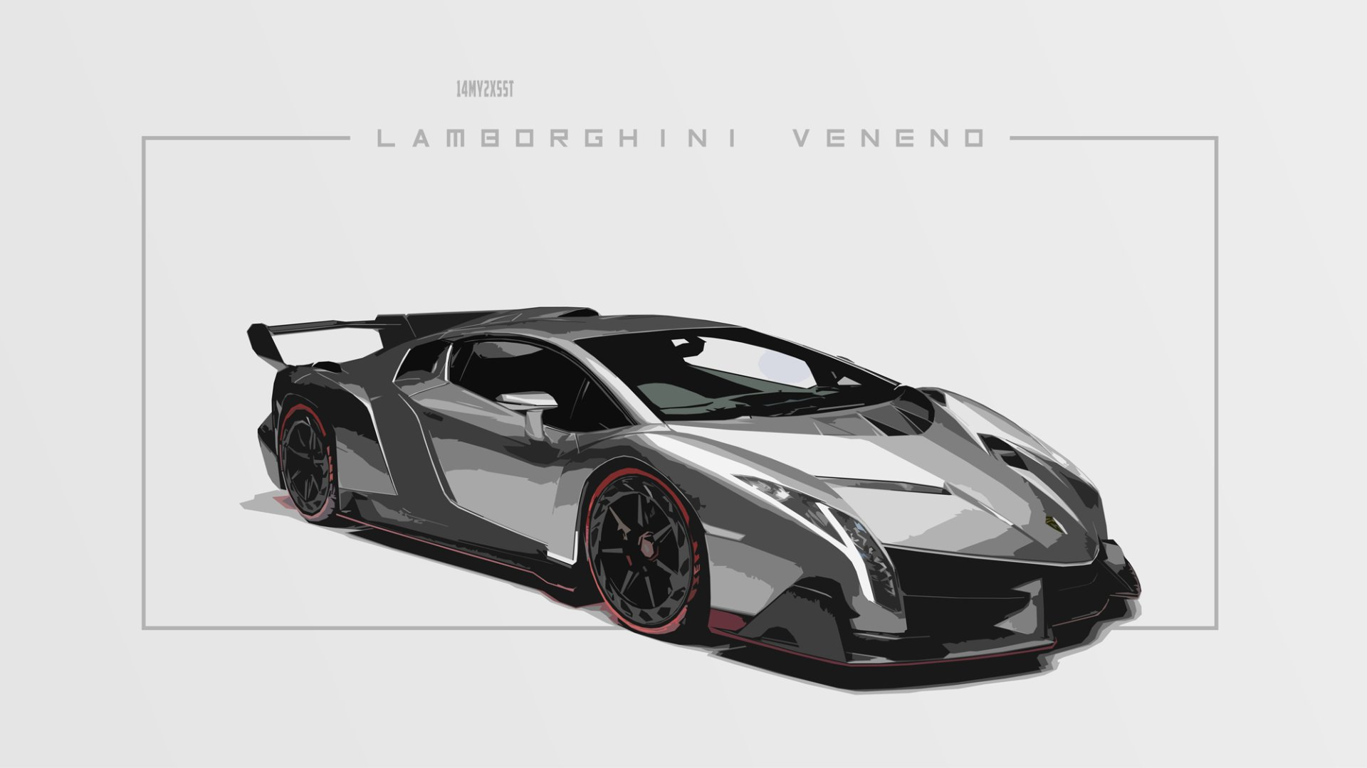 Vehicles - Lamborghini Veneno  Lamborghini Car Artistic Sport Car Black & White Wallpaper