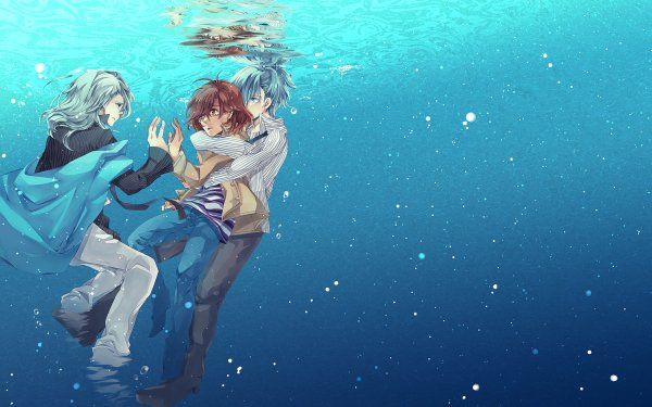 Anime Uta no Prince-sama Camus Mikaze Ai Kisaragi Aine Kotobuki Reiji Underwater HD Wallpaper | Background Image