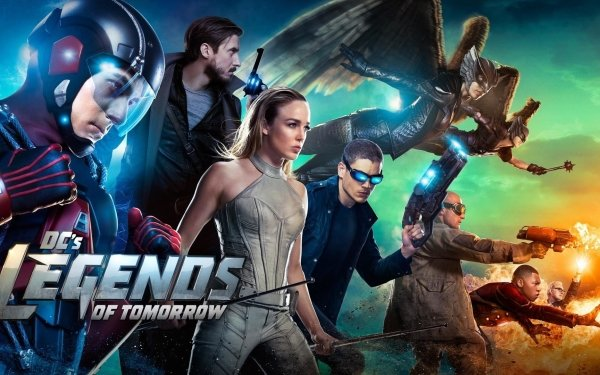 TV Show DC's Legends Of Tomorrow Hawkgirl Atom Captain Cold Firestorm White Canary Hawkman Rip Hunter Heat Wave HD Wallpaper | Background Image