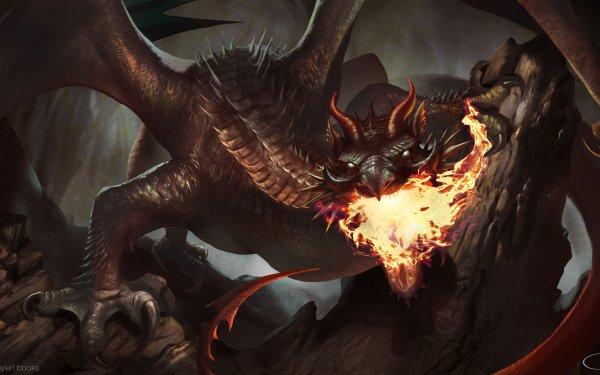 Fantasy Dragon Fire HD Wallpaper   Background Image