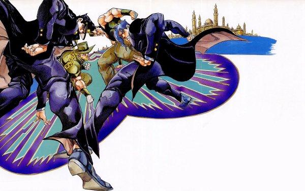 Anime Jojo's Bizarre Adventure Jotaro Kujo Noriaki Kakyoin Jean Pierre Polnareff Joseph Joestar HD Wallpaper | Background Image