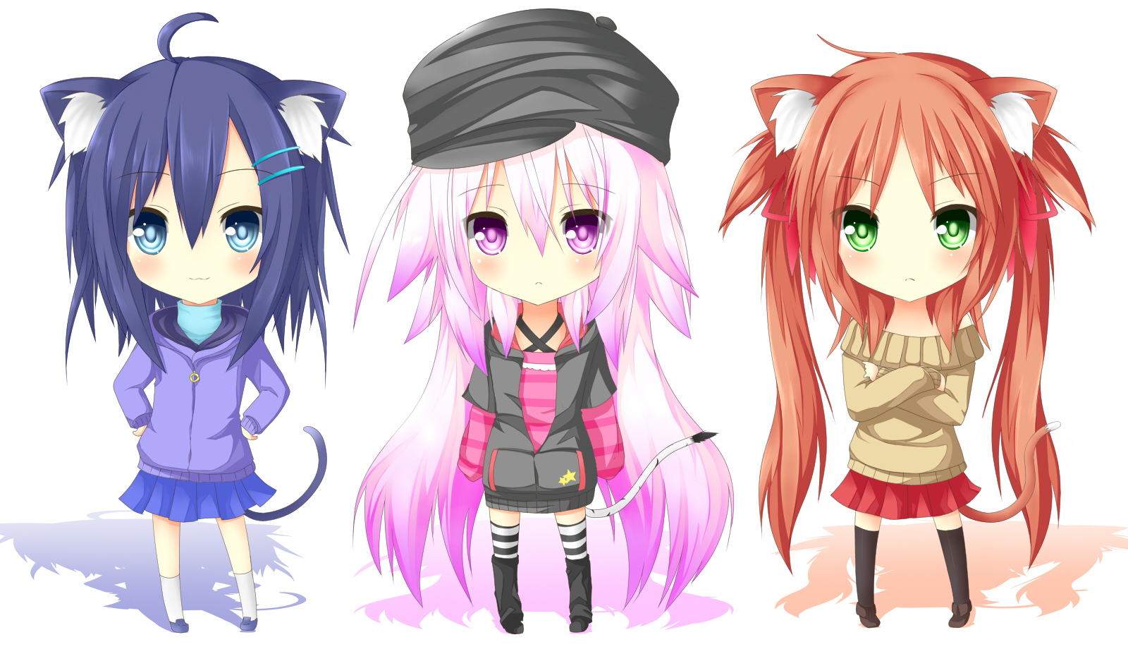 Cat Girls Wallpaper And Background Image 1600x920 Id 839746