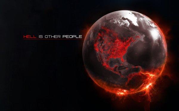 Tierra/Naturaleza Desde el espacio Hell Fuego Fondo de pantalla HD | Fondo de Escritorio