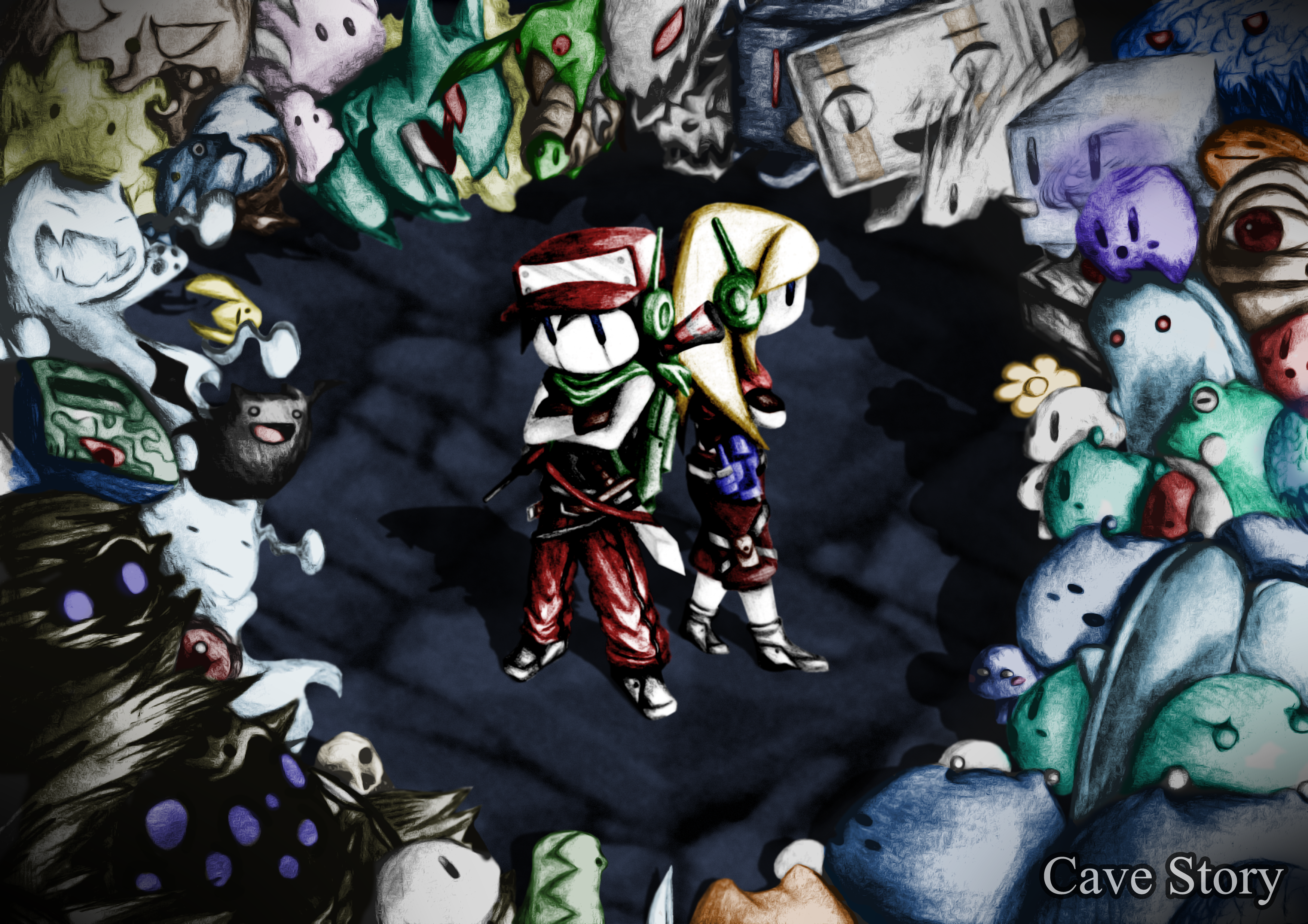 Cave story full hd wallpaper and background image 3496x2470 id video game cave story quote cave story curly brace balrog cave story voltagebd Gallery