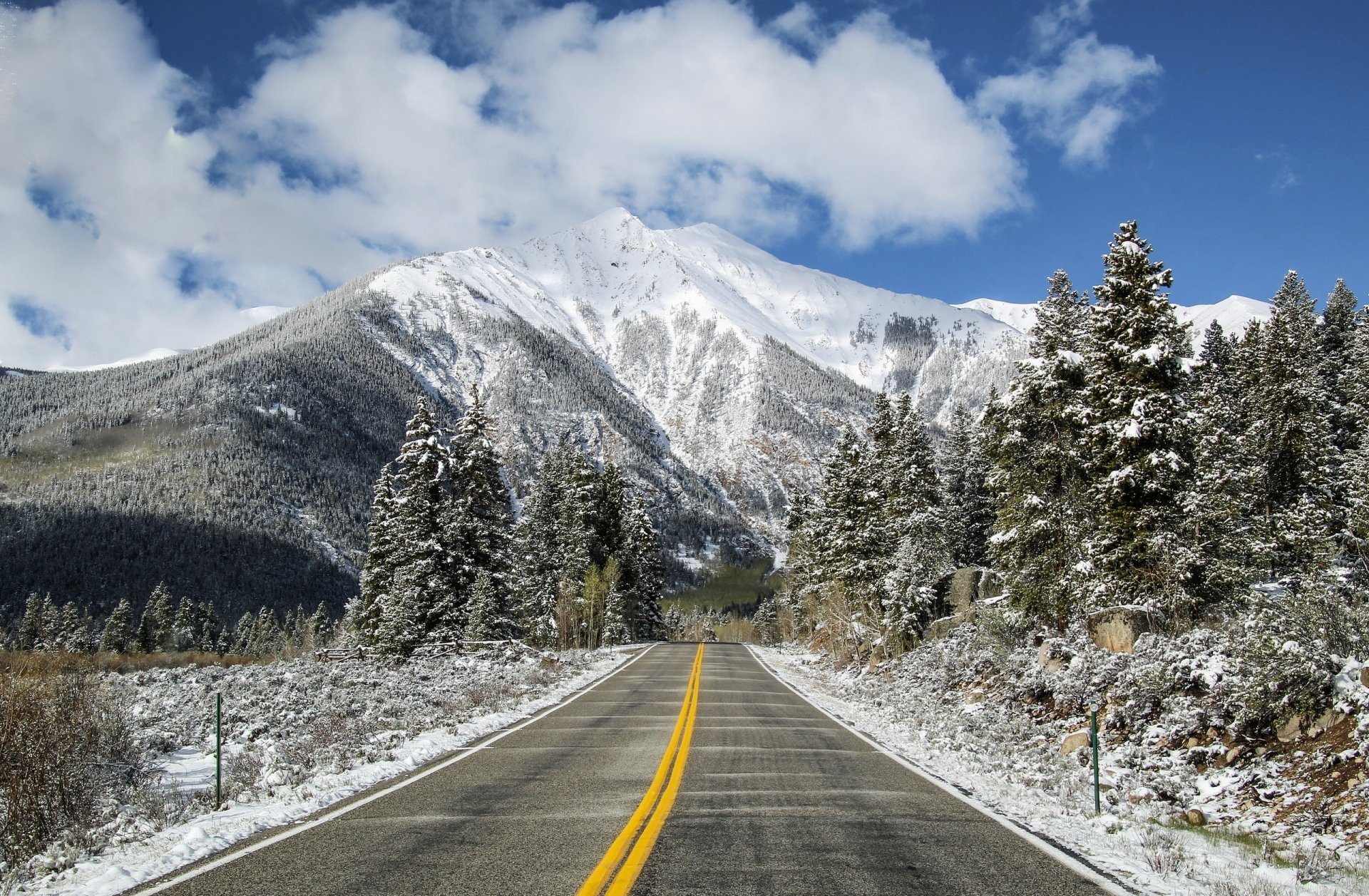 Man Made - Road  Winter Nature Mountain Wallpaper