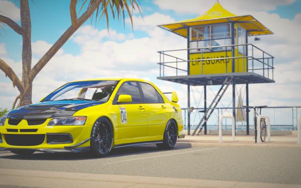 Video Game Forza Horizon 3 Forza Mitsubishi Mitsubishi Lancer Evolution HD Wallpaper | Background Image