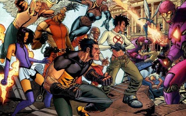 Comics X-Men Angel Storm Bishop Wolverine Sentinel Warren Worthington III Psylocke HD Wallpaper | Background Image