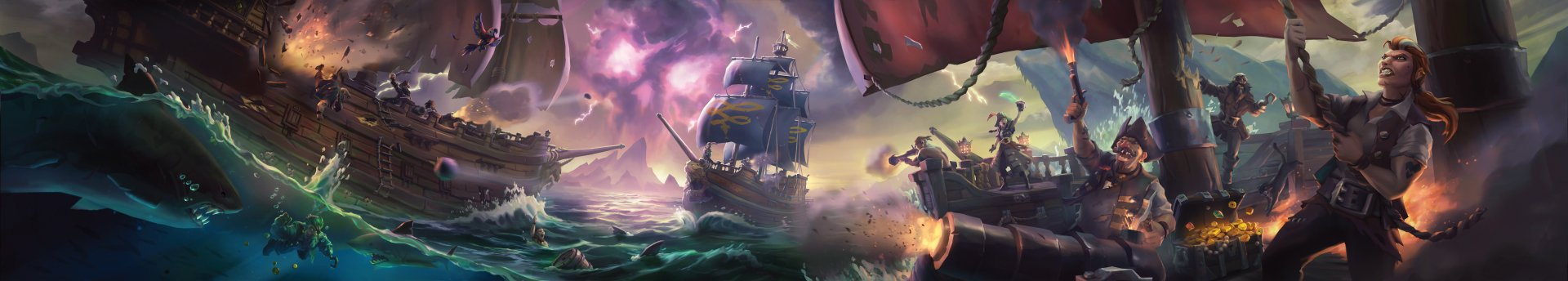 Video Game - Sea Of Thieves  Pirate Ship Pirate Wallpaper