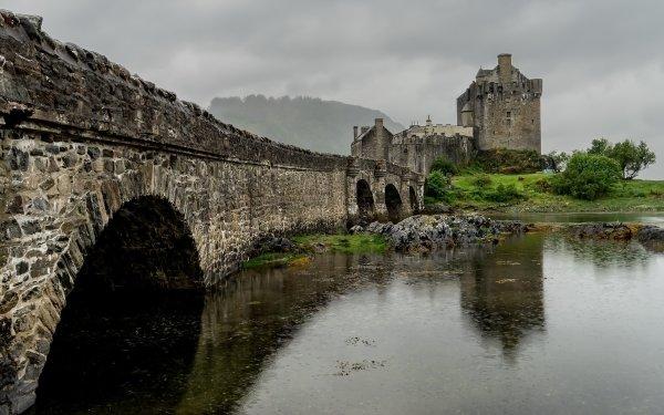 Man Made Eilean Donan Castle Castles United Kingdom Castle Bridge Scotland Building HD Wallpaper | Background Image