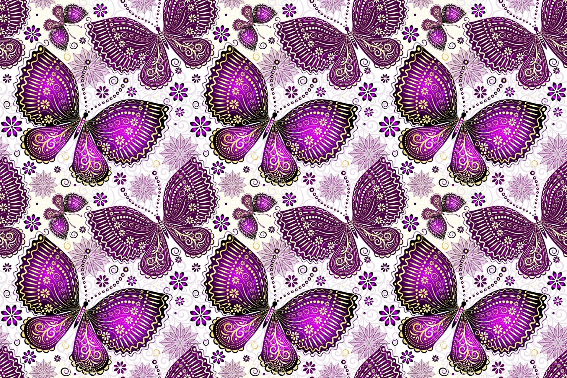 Purple Butterflies HD Wallpaper   Background Image ...