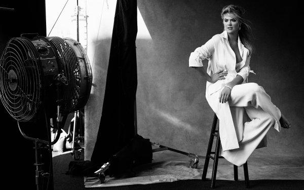 Celebrity Kate Upton Actresses United States Monochrome Black & White HD Wallpaper | Background Image