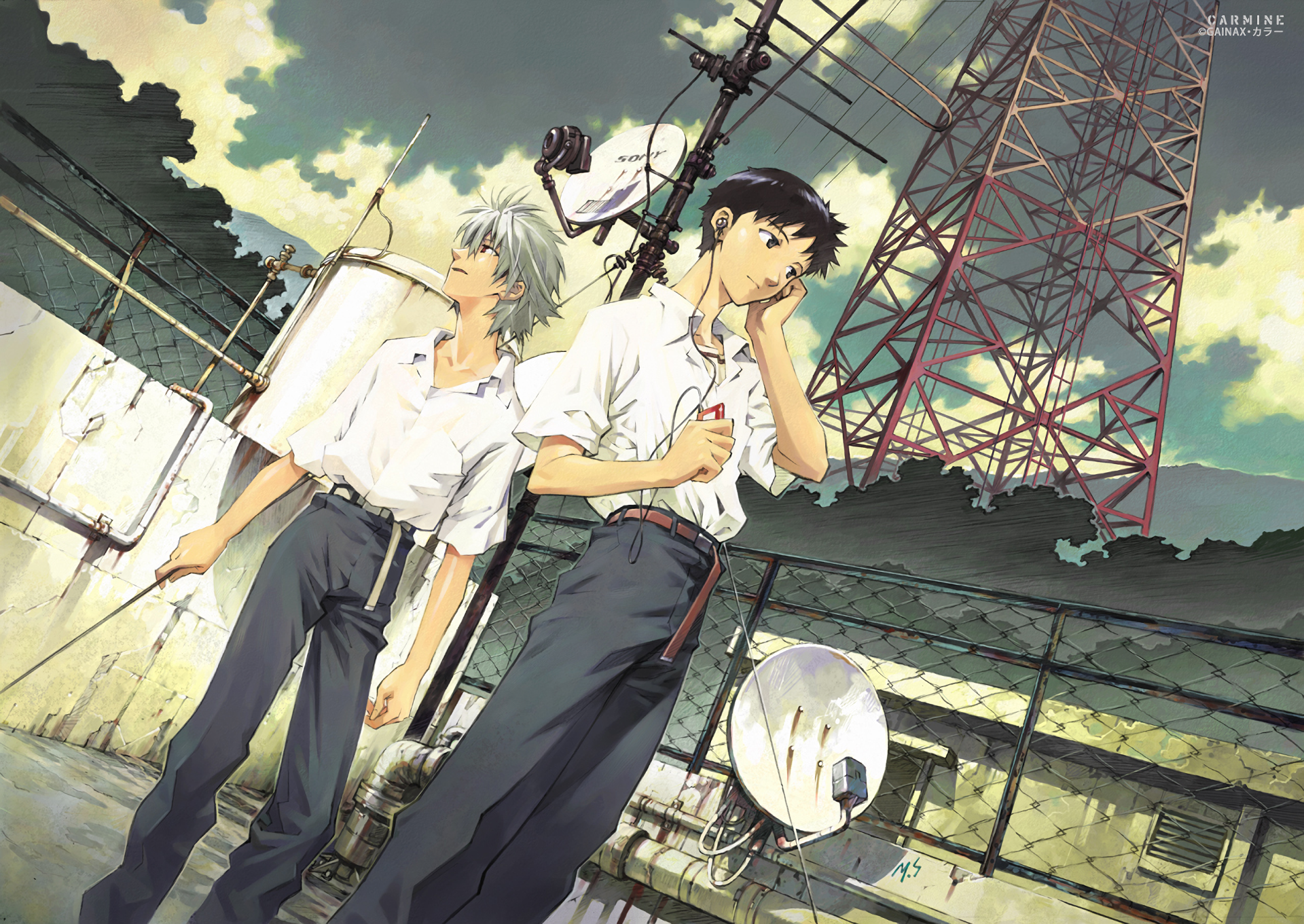 Anime - Neon Genesis Evangelion  Kaworu Nagisa Shinji Ikari Wallpaper