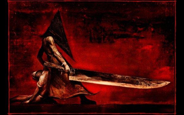 Video Game Silent Hill Dark Evil Sword Pyramid Head HD Wallpaper | Background Image