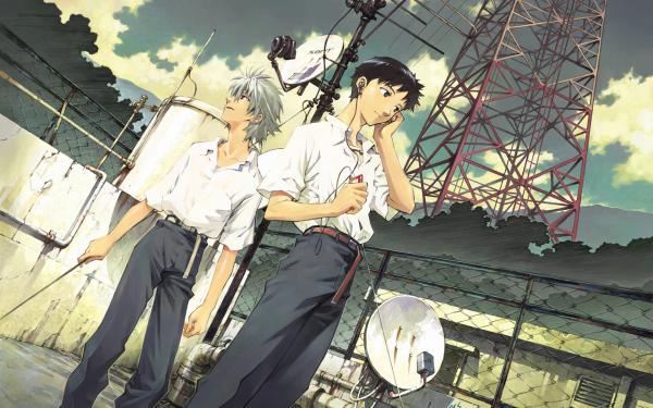 Anime Neon Genesis Evangelion Evangelion Shinji Ikari Kaworu Nagisa Fondo de pantalla HD | Fondo de Escritorio