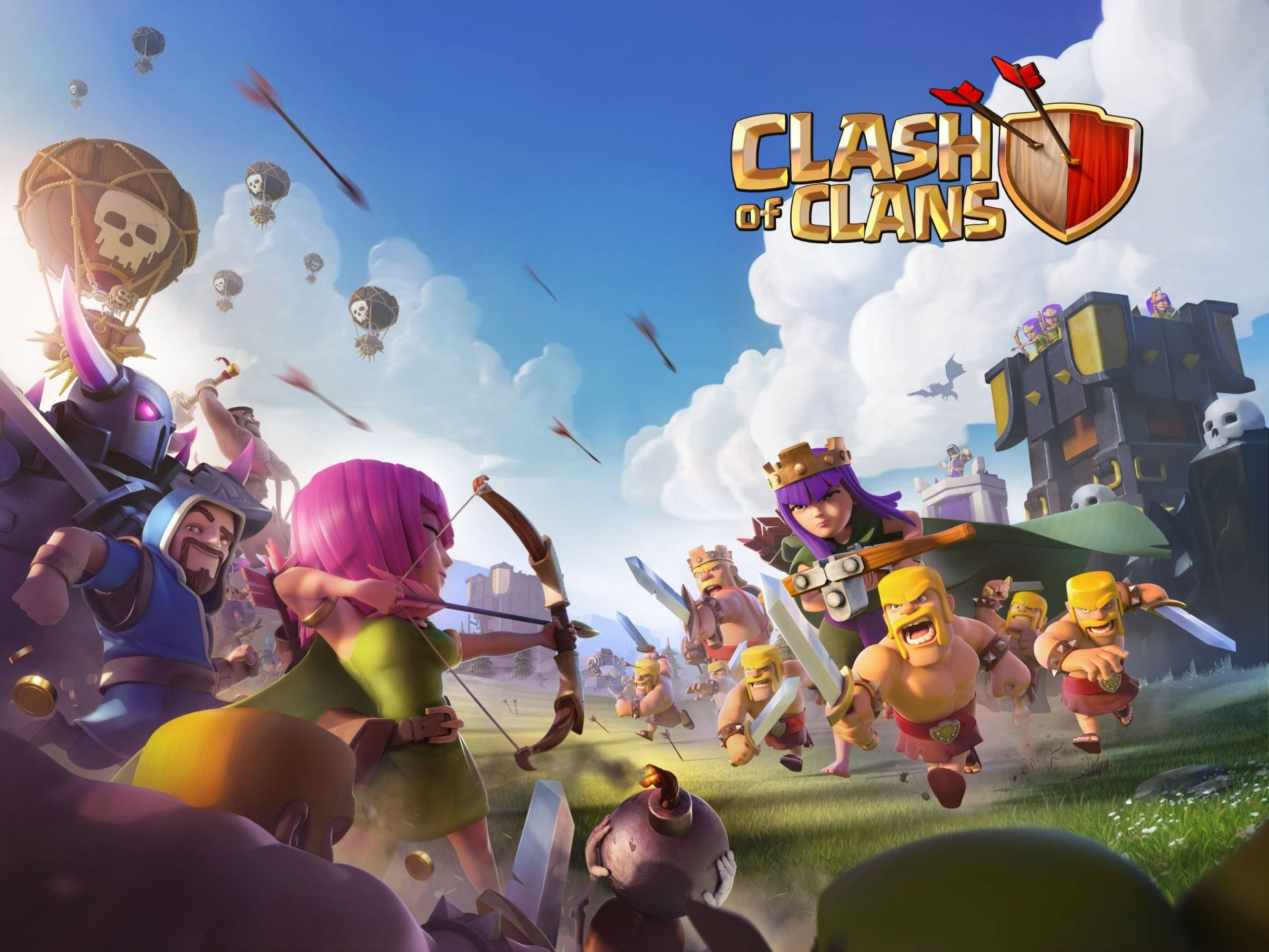 4 4k Ultra Hd Clash Of Clans Wallpapers Background Images