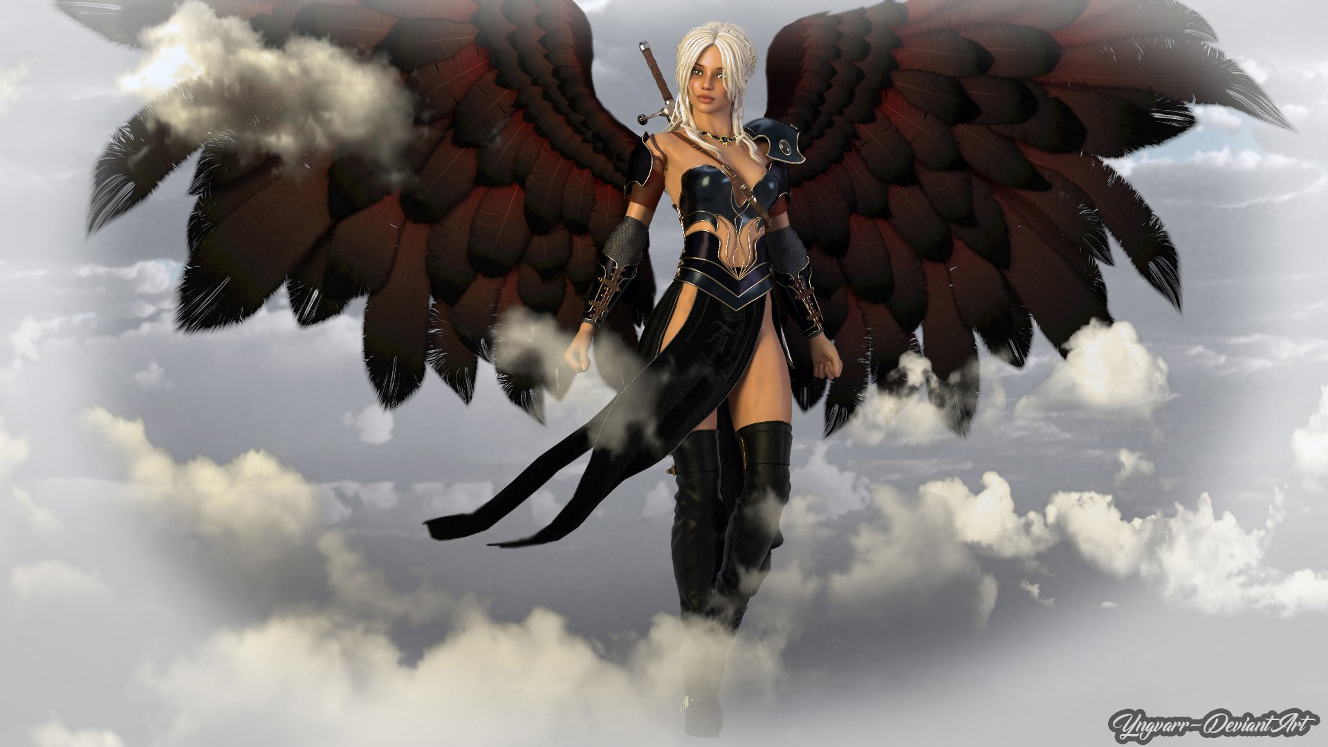 Fantasy - Angel  Girl Woman Warrior Wallpaper
