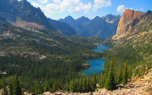 Earth Landscape Mountain Forest Lake HD Wallpaper   Background Image