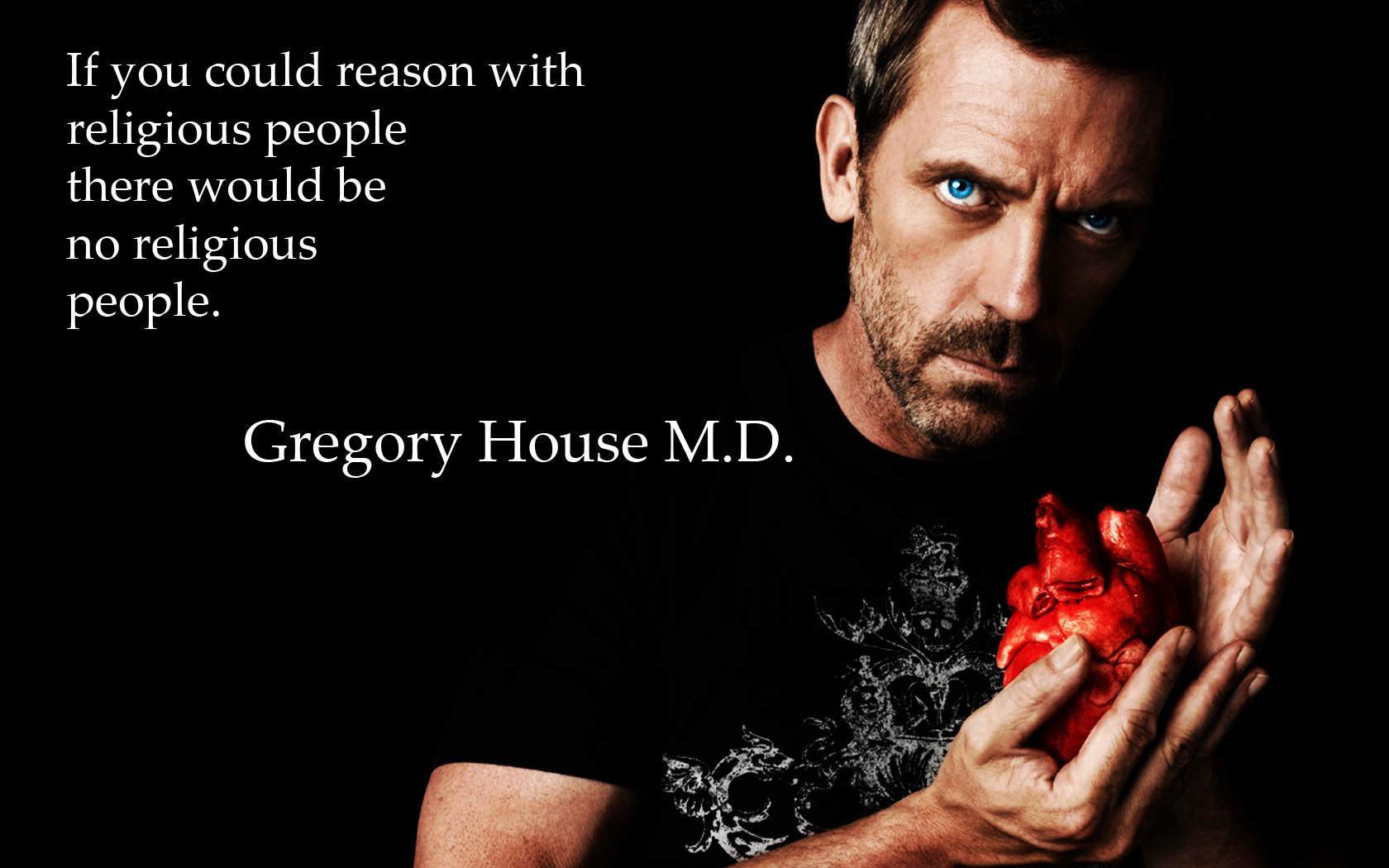 Televisieprogramma - House  Hugh Laurie Dr. Gregory House Wallpaper