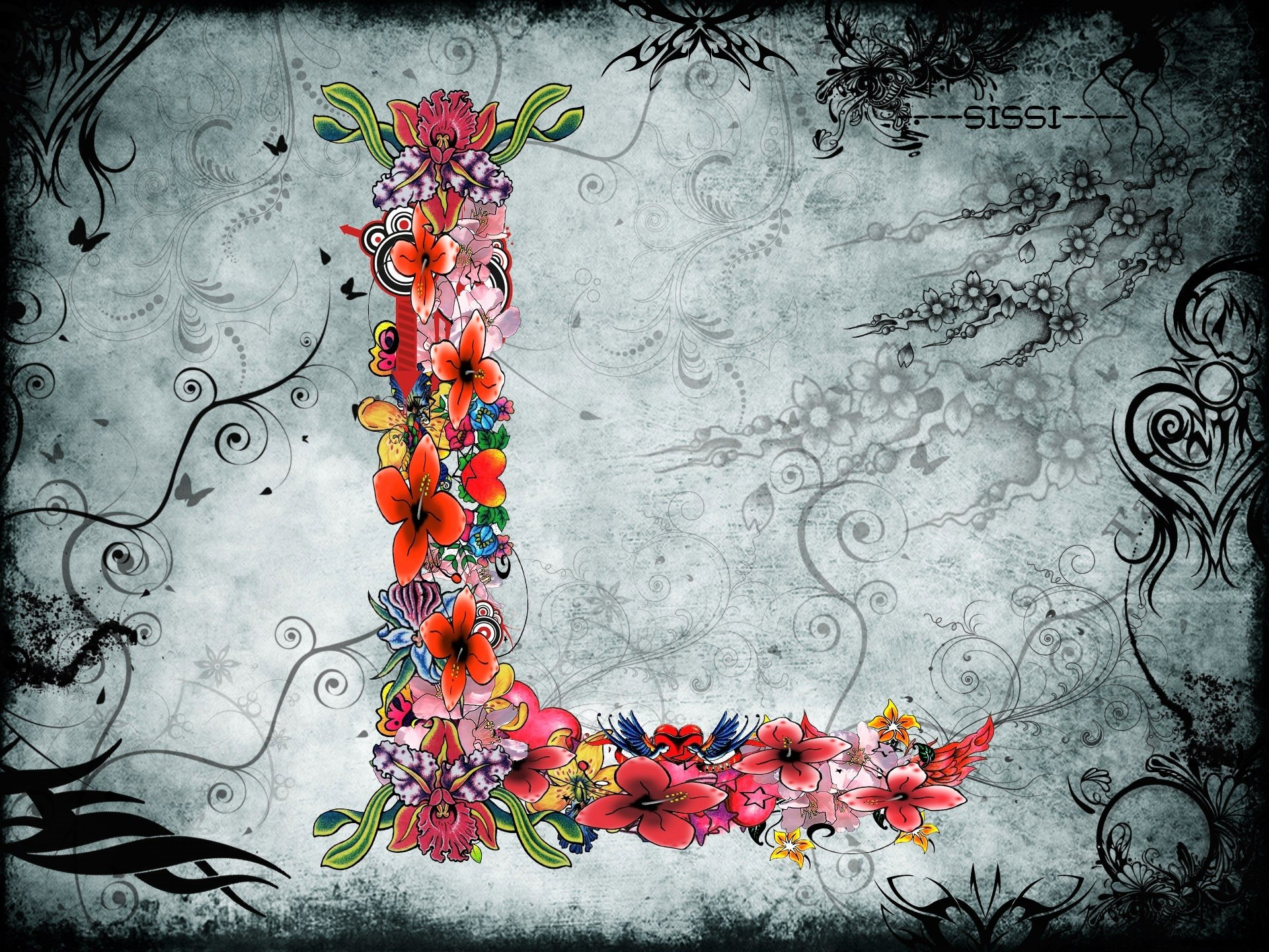 Artistic Letter L HD Wallpaper