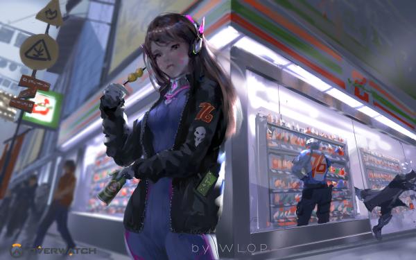 Video Game Overwatch D.Va Soldier: 76 Reaper HD Wallpaper   Background Image